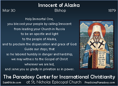 Mar 30 - Innocent of Alaska