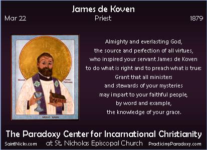 Mar 22 - James de Koven