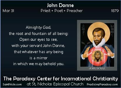 Mar 31 - John Donne