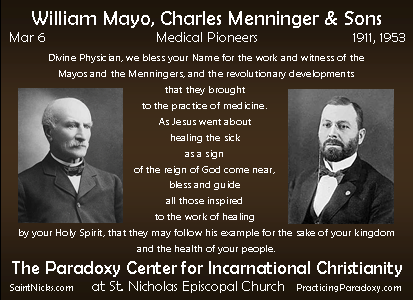 Mar 6 - Mayo, Menninger & Sons