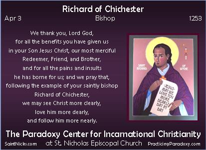 Apr 3 - Richard of Chichester
