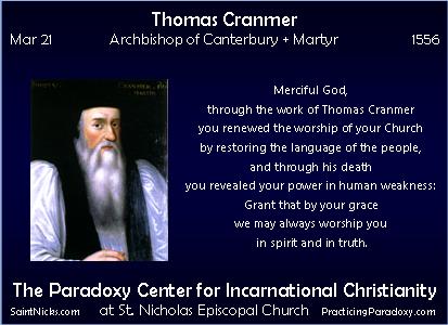 Mar 21 - Thomas Cranmer