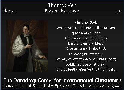 Mar 20 - Thomas Ken