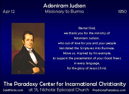 Apr 12 - Adoniram Judson