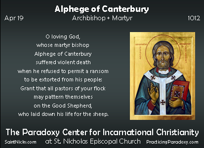 Apr 19 - Alphege of Canterbury
