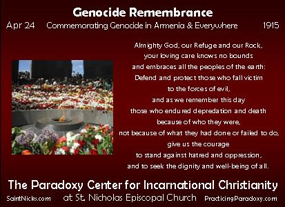 Apr 24 - Genocide Remembrance