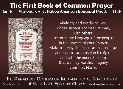 Jun 9 - 1st Book of Common Prayer