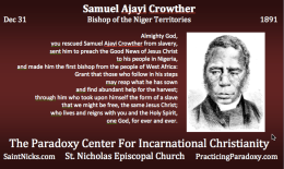 Dec 31 – Samuel Ajayi Crowther