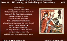 May 26 – Augustine ofCanterbury